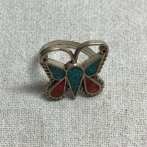 Vintage 70,s Navajo sterling silver turquoise ring